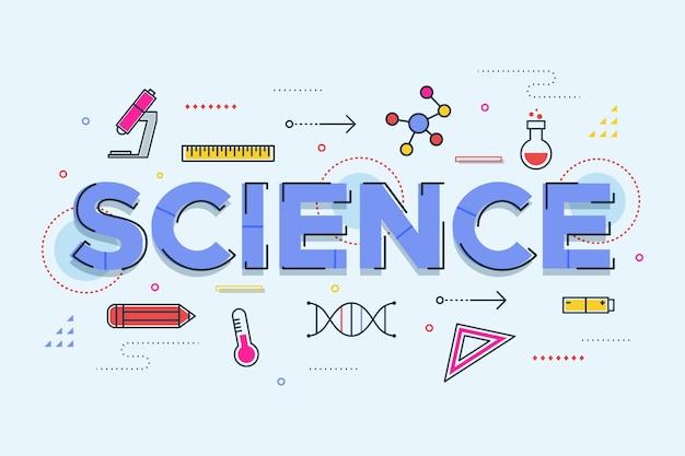 Concetto di parola scienza Vettore gratuito
