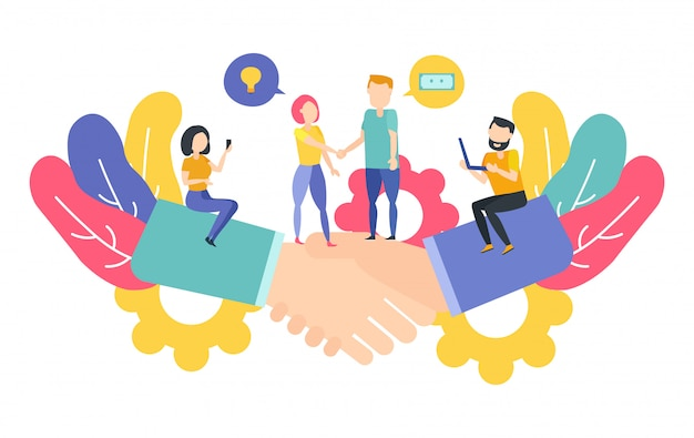 Concetto di partenariato Vettore Premium