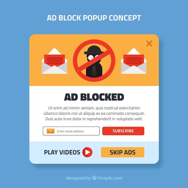 Concetto di pop-up pubblicitario con design piatto Vettore gratuito