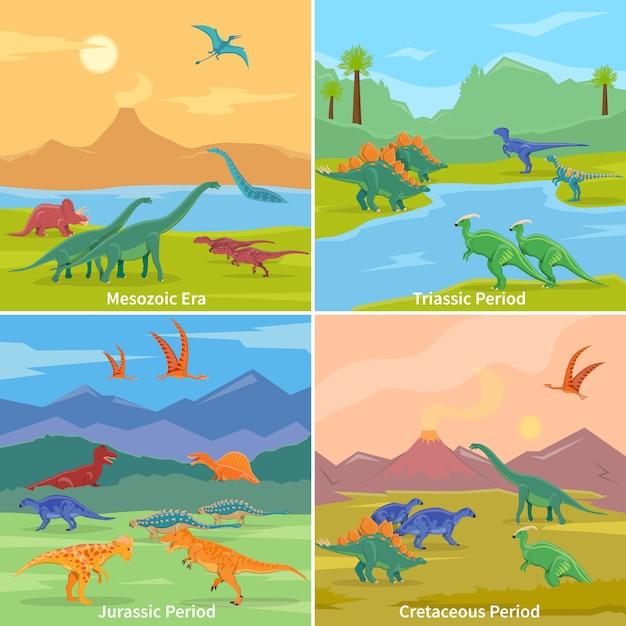 Concetto di progetto del fondo dei dinosauri Vettore gratuito