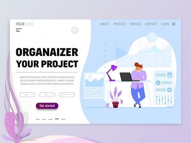 Concetto di project manager Vettore Premium