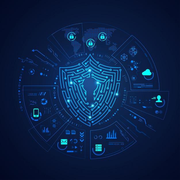 Concetto di protezione dei dati Vettore Premium