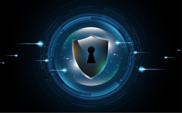 Concetto di protezione dello schermo di protezione 3d protetto Vettore Premium