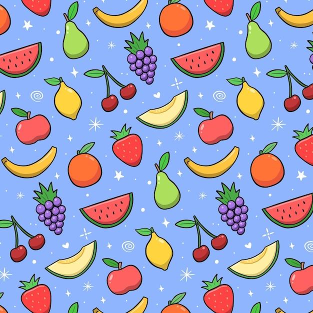 Concetto di raccolta del modello di frutta Vettore gratuito