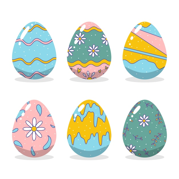 Concetto di raccolta delle uova di giorno di pasqua Vettore gratuito