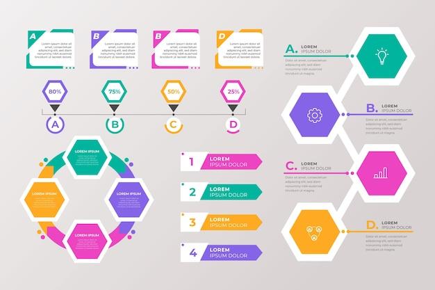 Concetto di raccolta di elementi infografici Vettore gratuito