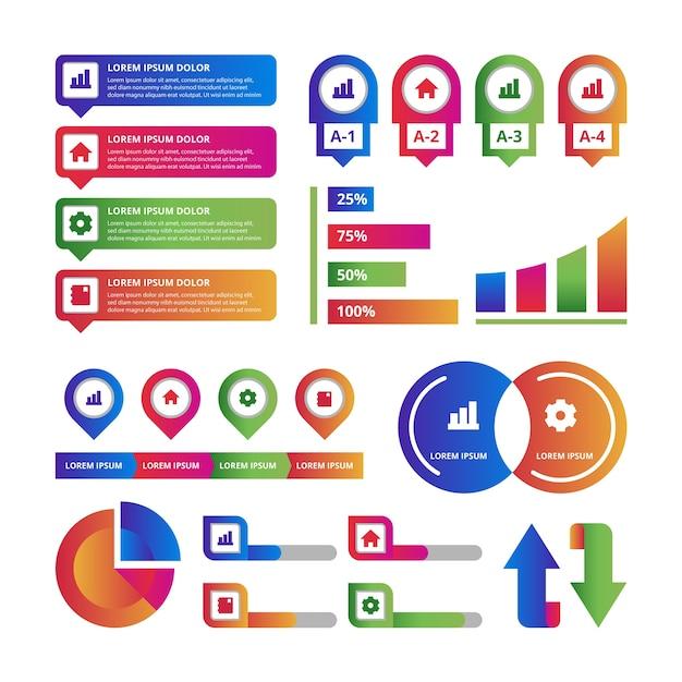 Concetto di raccolta elemento infografica Vettore gratuito