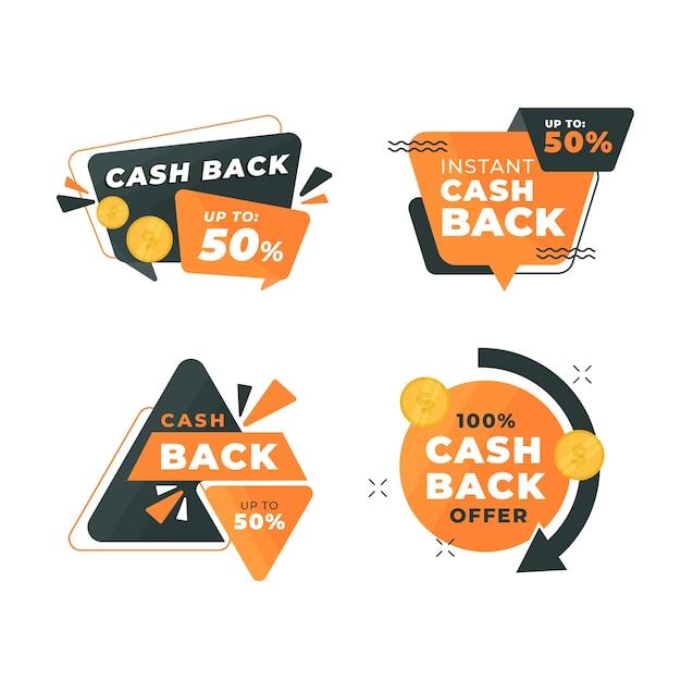 Concetto di raccolta etichette cashback Vettore gratuito