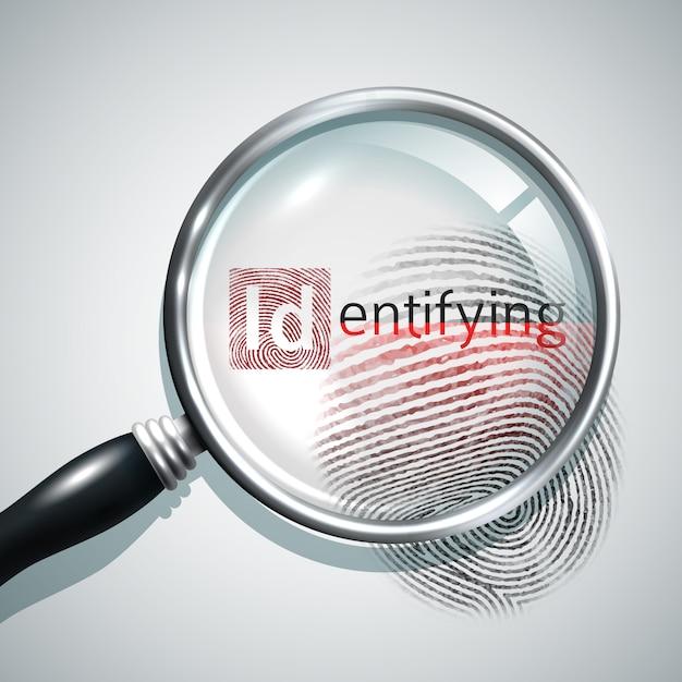 Concetto di ricerca delle impronte digitali Vettore gratuito