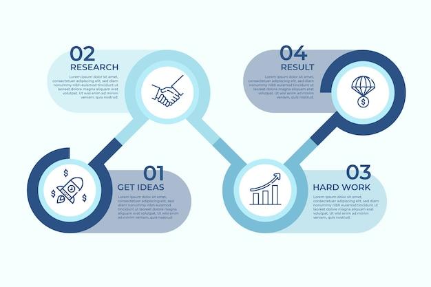 Concetto di ricerca infografica di affari Vettore gratuito