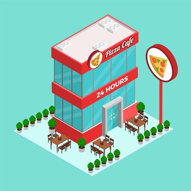 Concetto di ristorante isometrico Vettore gratuito
