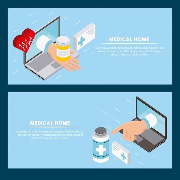 Concetto di salute digitale Vettore gratuito