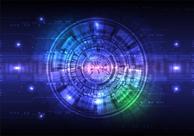 Concetto di sfondo astratto tecnologia digitale Vettore Premium