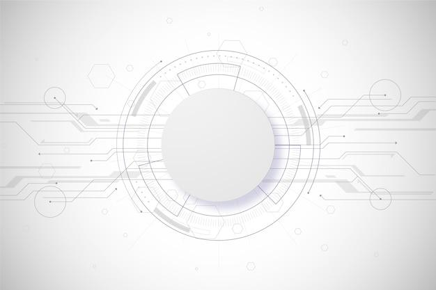 Concetto di sfondo bianco tecnologia Vettore gratuito