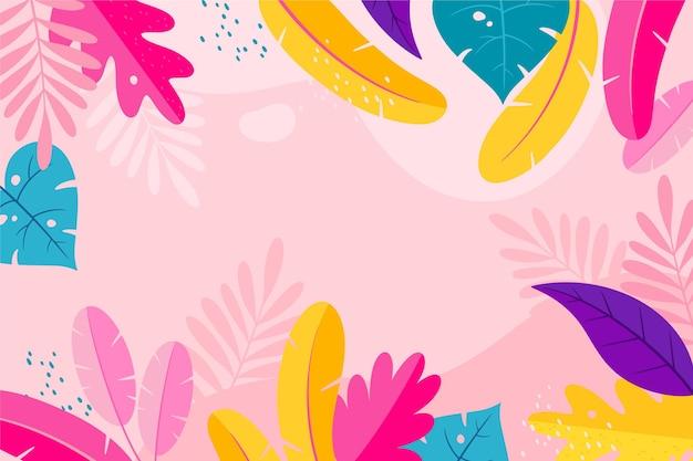 Concetto di sfondo colorato estate Vettore gratuito