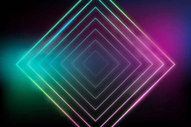 Concetto di sfondo di luci al neon Vettore gratuito