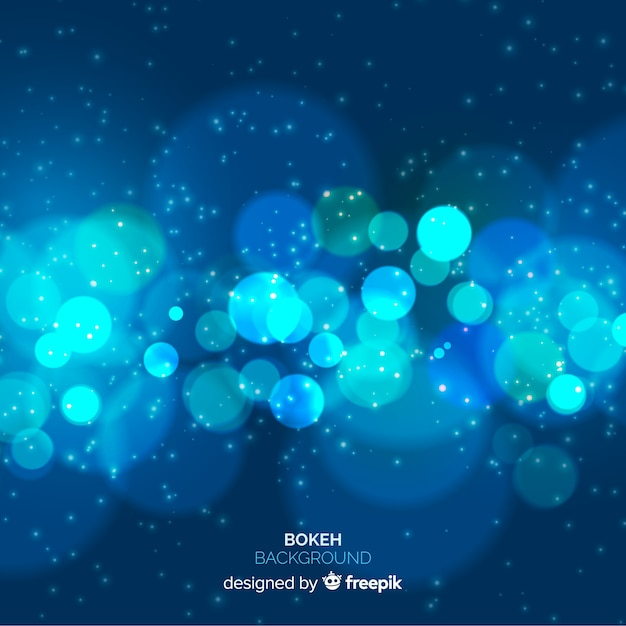 Concetto di sfondo sfocato blu Vettore gratuito