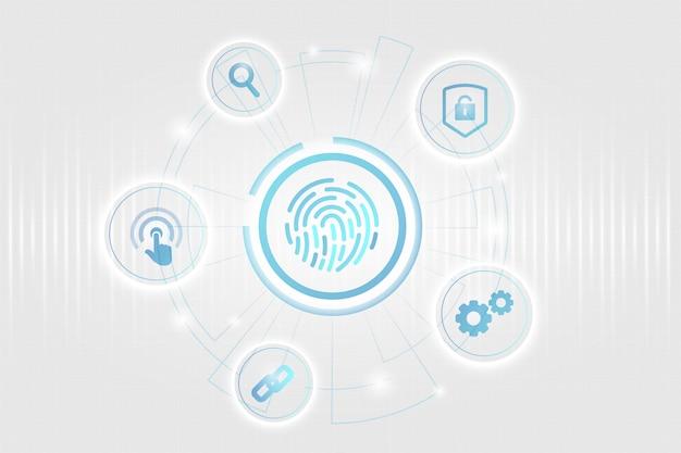 Concetto di sicurezza biometrica Vettore gratuito