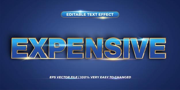 Concetto di stile effetto testo modificabile - parola costosa Vettore Premium