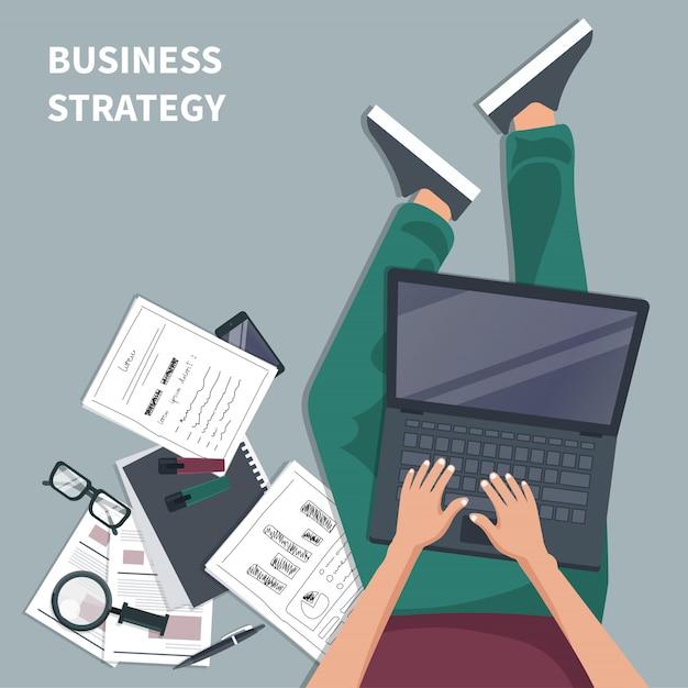 Concetto di strategia aziendale Vettore Premium