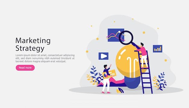 Concetto di strategia di marketing digitale di affiliazione. riferire un amico con carattere di persone Vettore Premium