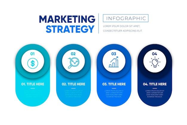 Concetto di strategia infografica Vettore gratuito