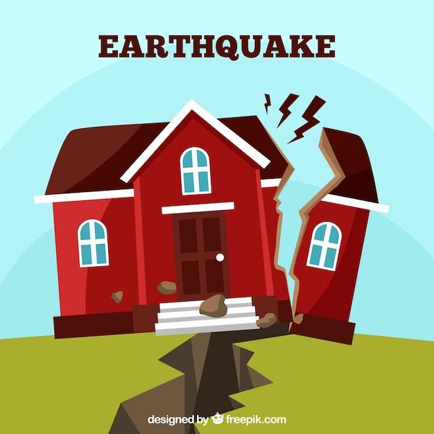 Concetto di terremoto in stile piatto Vettore gratuito