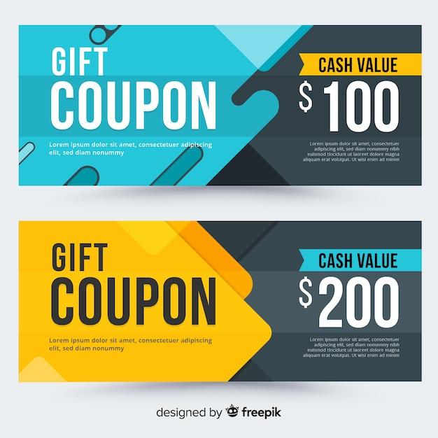 Concetto di vendita con coupon Vettore gratuito
