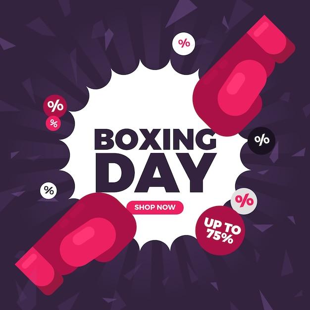 Concetto di vendita di boxe design piatto Vettore gratuito