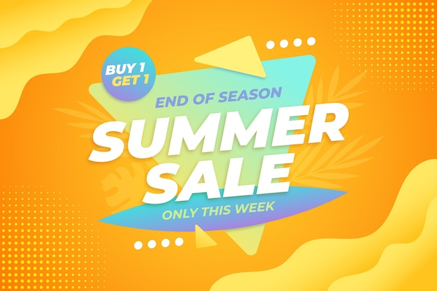 Concetto di vendita estate colorata Vettore gratuito