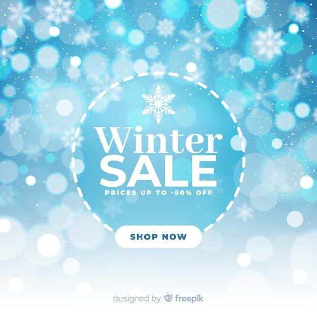 Concetto di vendita inverno offuscata Vettore gratuito