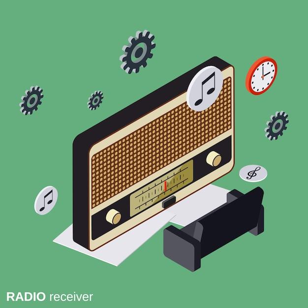 Concetto di vettore del ricevitore radio Vettore Premium
