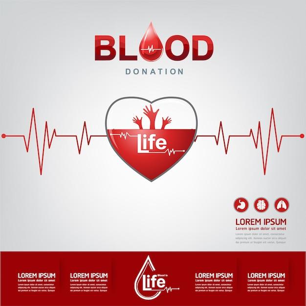 Concetto di vettore di donazione di sangue Vettore Premium