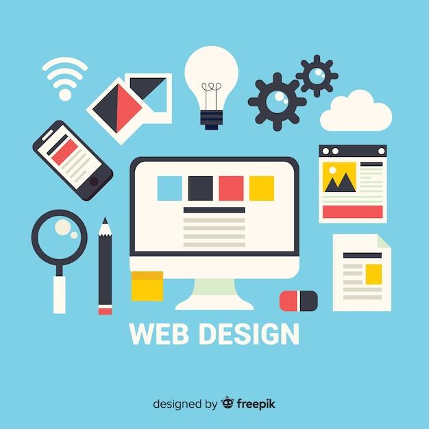 Concetto di web design moderno con stile piano Vettore gratuito