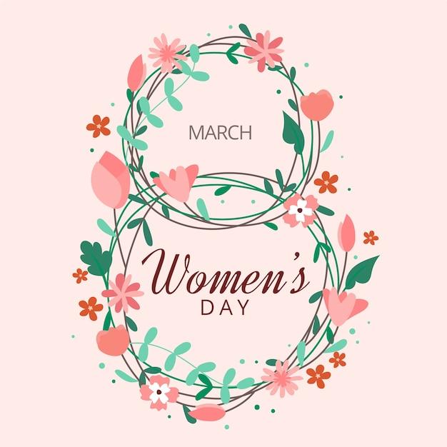 Concetto floreale del giorno delle donne Vettore gratuito