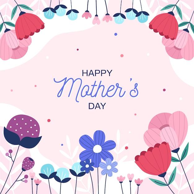 Concetto floreale festa della mamma Vettore gratuito