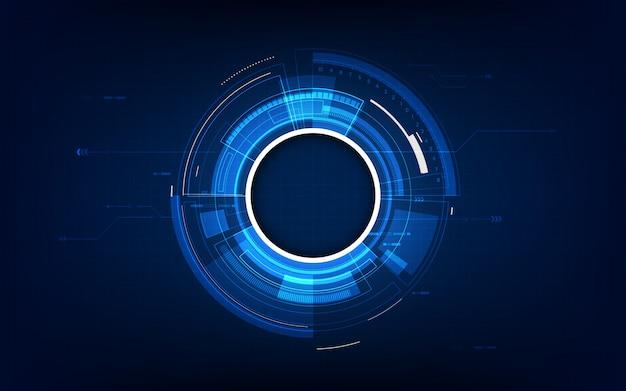 Concetto futuristico astratto di fi di sci di tecnologia del fondo Vettore Premium
