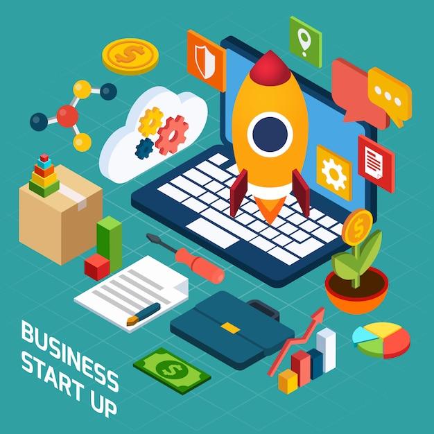 Concetto isometrico di marketing digitale Vettore gratuito