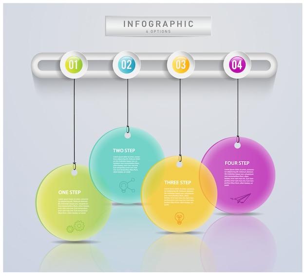 Concetto moderno astratto dell'etichetta di affari per infographic. Vettore Premium