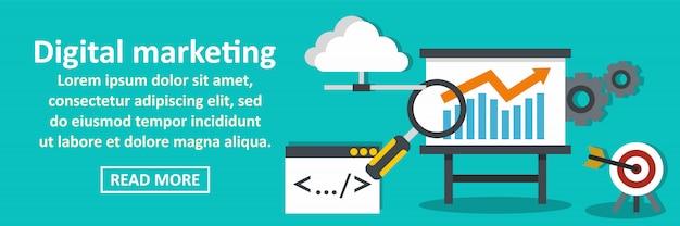 Concetto orizzontale dell'insegna di vendita di digital Vettore Premium