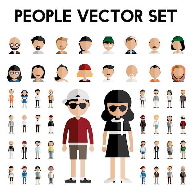 Concetto piano delle icone di progettazione della gente della comunità di diversità Vettore gratuito