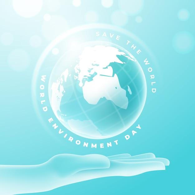 Concetto realistico di giornata mondiale dell'ambiente Vettore gratuito