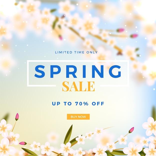 Concetto sfocato per la vendita di primavera Vettore gratuito