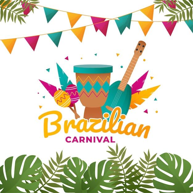 Concetto tematico di carnevale brasiliano Vettore gratuito