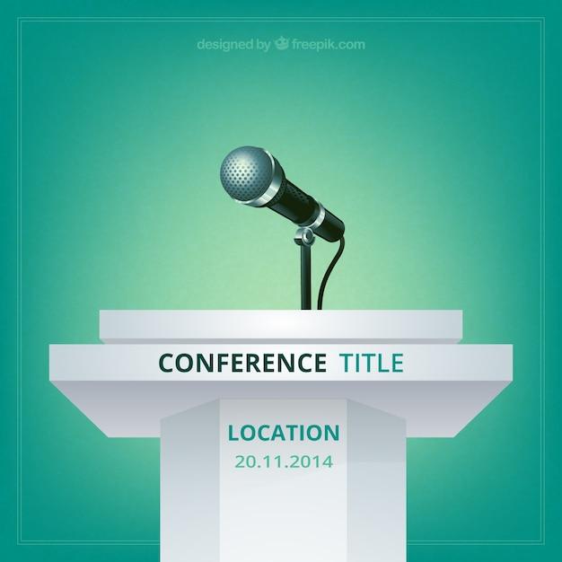 Conferenza vettore manifesto Vettore gratuito