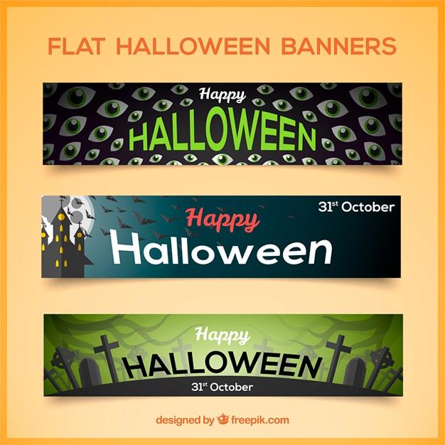 Confezione da tre piani bandiere di halloween scaricare for Creatore di piani gratuito