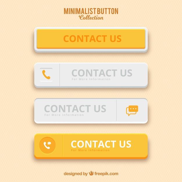 Confezione di bottoni gialli minimalista Vettore gratuito