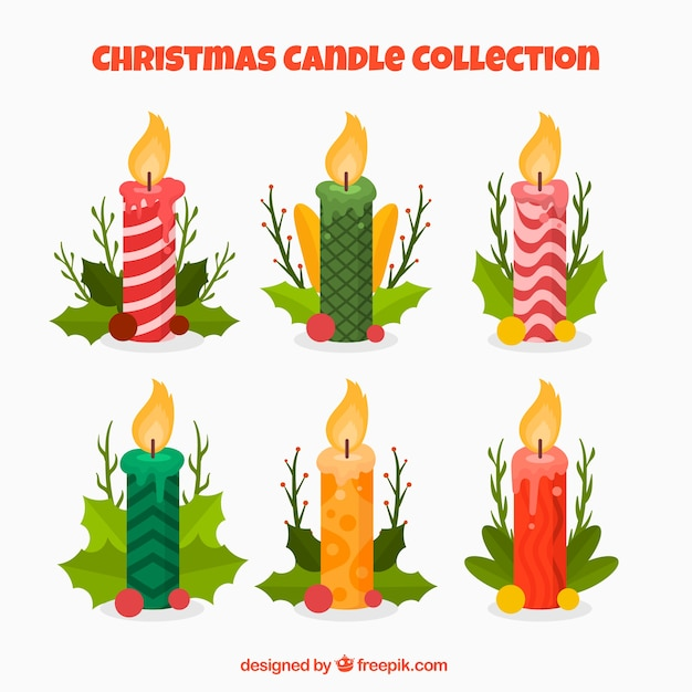 Immagini Di Candele Natalizie.Confezione Di Candele Natalizie Decorative Scaricare