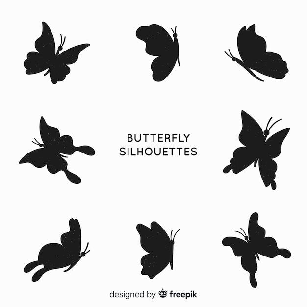 Confezione di farfalle Vettore gratuito