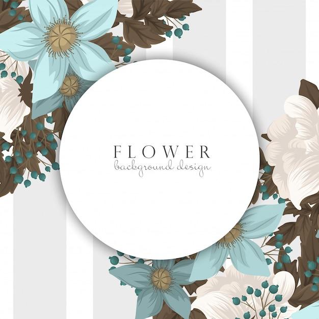 Confine floreale verde del fondo del fiore della menta Vettore Premium
